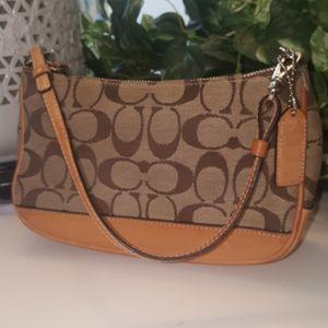 Coach signature demi tan/khaki bag No.125-6094